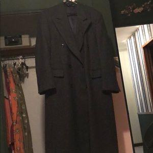 Christian Dior men's tweed overcoat